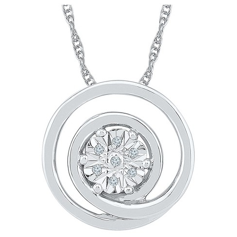 Diamond Accent Round White Diamond Circle Pendant in Sterling Silver (I-J,I2-I3) - image 1 of 1