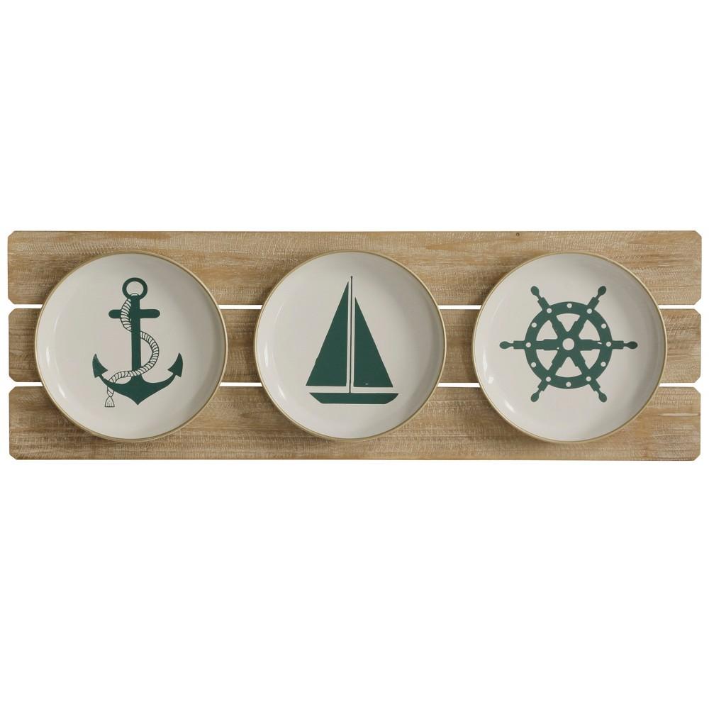 "Image of ""11.81"""" Sailing Plates Decorative Wall Art - StyleCraft"""