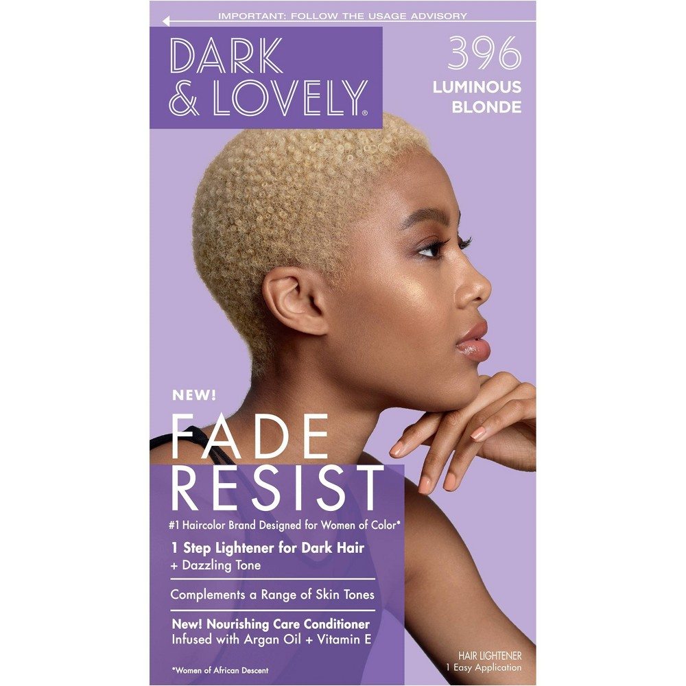 Image of Dark & Lovely Fade Resist Permanent Hair Color - 396 Luminous Blonde