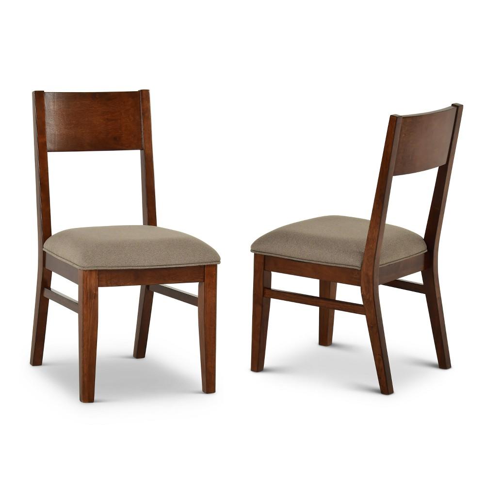 Adeline Side Chair Walnut (Brown) (Set of 2) - Steve Silver