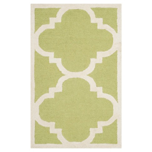 "Landon Texture Wool Rug - Green / Ivory (2'6"" X 4') - Safavieh® - image 1 of 2"