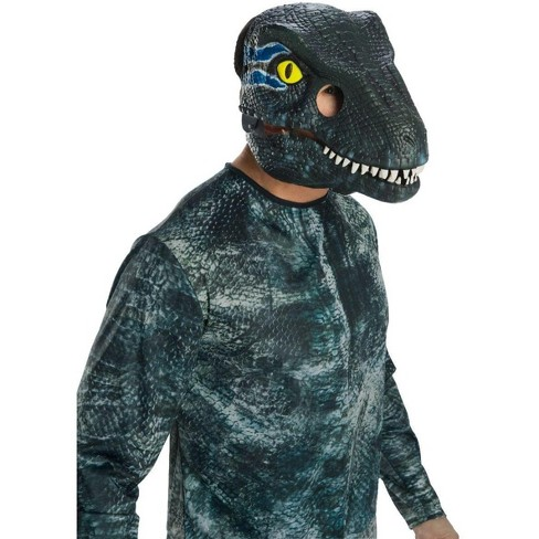 Rubie's Jurassic World Fallen Kingdom Velociraptor-Blue Movable Jaw Adult Mask - image 1 of 1