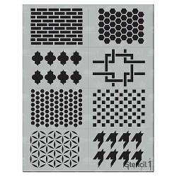 "Stencil1 Pattern Multipack 8ct - Stencil 8.5"" x 11"""