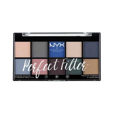 NYX Professional Makeup Perfect Filter Shadow Palette Marine Layer - 0.6oz