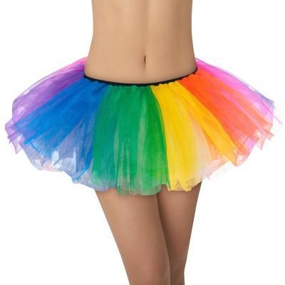 Adult Tutu Rainbow Halloween Costume One Size