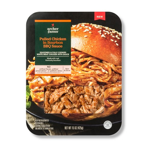 Pulled Chicken in Bourbon BBQ Sauce - 15oz - Archer Farms™ - image 1 of 1