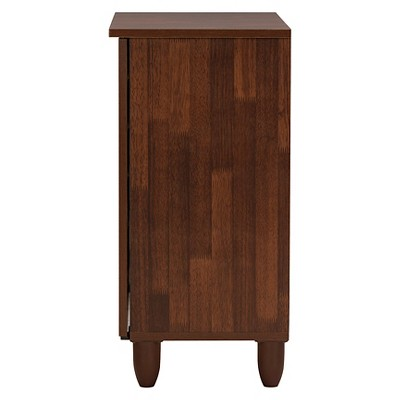Gisela 2-tone Shoe Cabinet With 2 Doors - Oak/White - Baxton Studio : Target