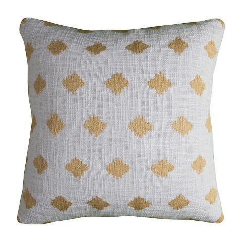 Ivory Diamond Throw Pillow - (20x20) - Rizzy Home - image 1 of 1