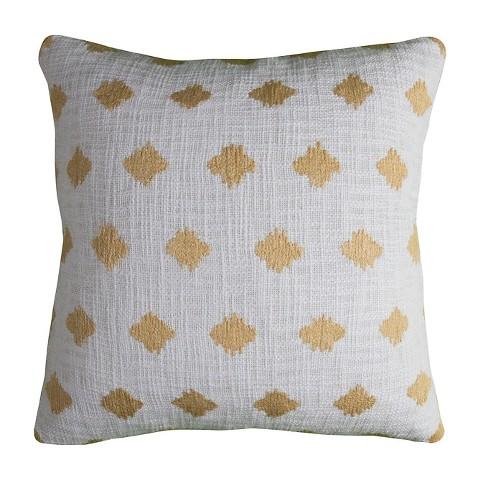 Ivory Diamond Throw Pillow - (20x20) - Rizzy Home - image 1 of 1