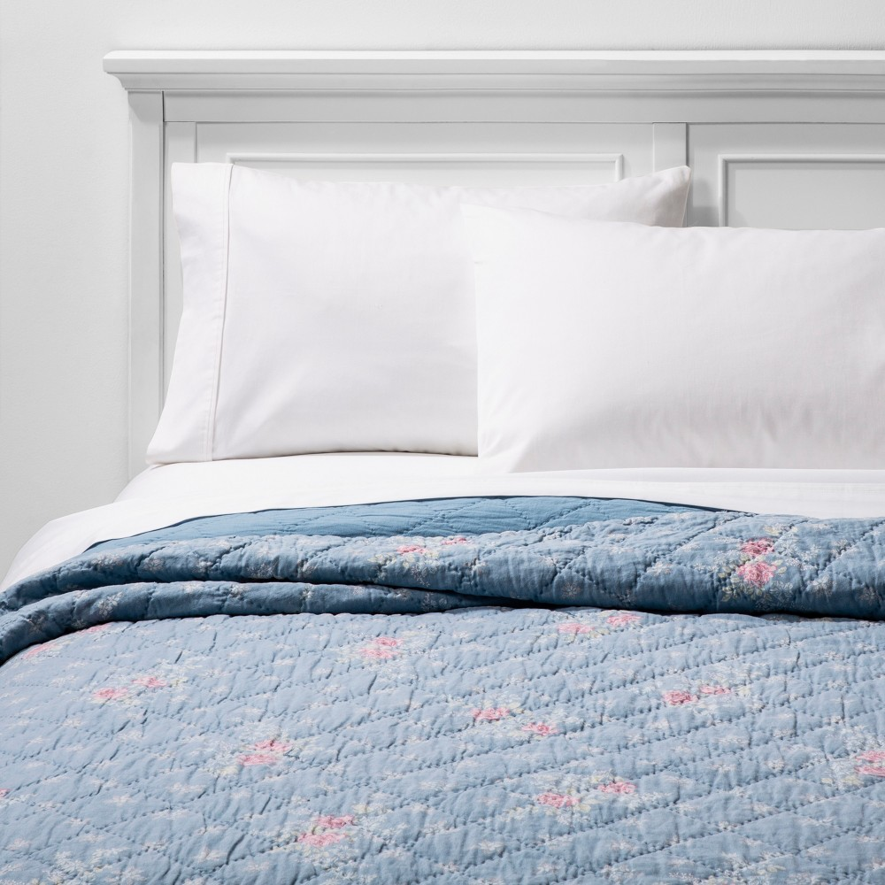 Pleasing Fullqueen Lily Rose Chambray Quilt Blue Simply Shabby Chic Download Free Architecture Designs Scobabritishbridgeorg