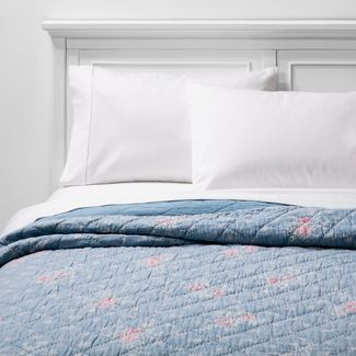 Full/Queen Lily Rose Chambray Quilt Blue - Simply Shabby Chic®