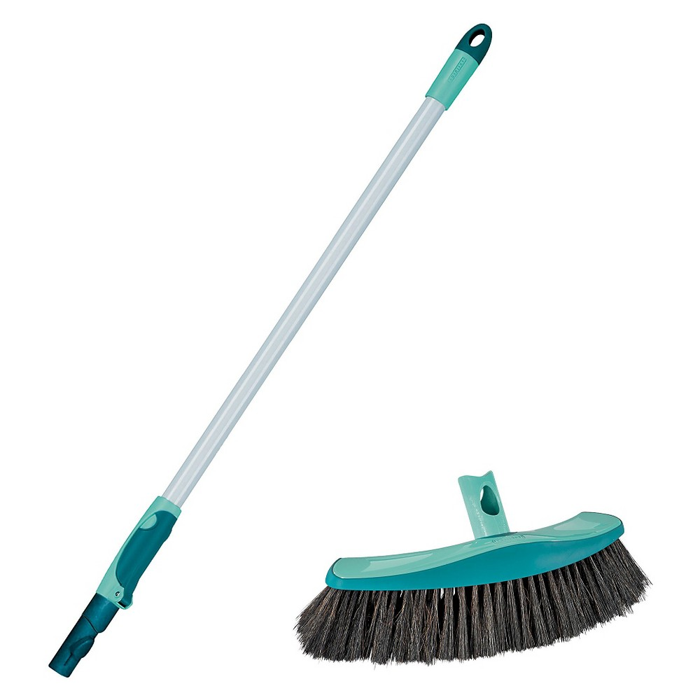 Leifheit Xtra Clean Collect Plus Parquet Broom, Lagoon Turquoise