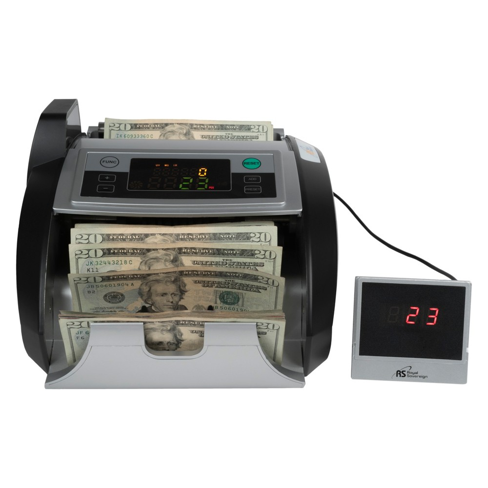 Royal Sovereign Bill Counter with External Display System - Supports New US $100 Notes Rbc-2100