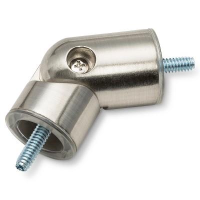 7/8 Corner Connector Brushed Nickel - Threshold™