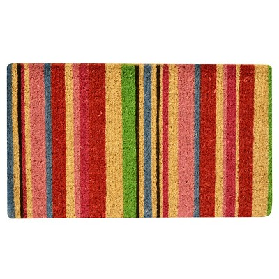 "HomeTrax Coir Mat Doormat - Stripes (18"" x 30"")"