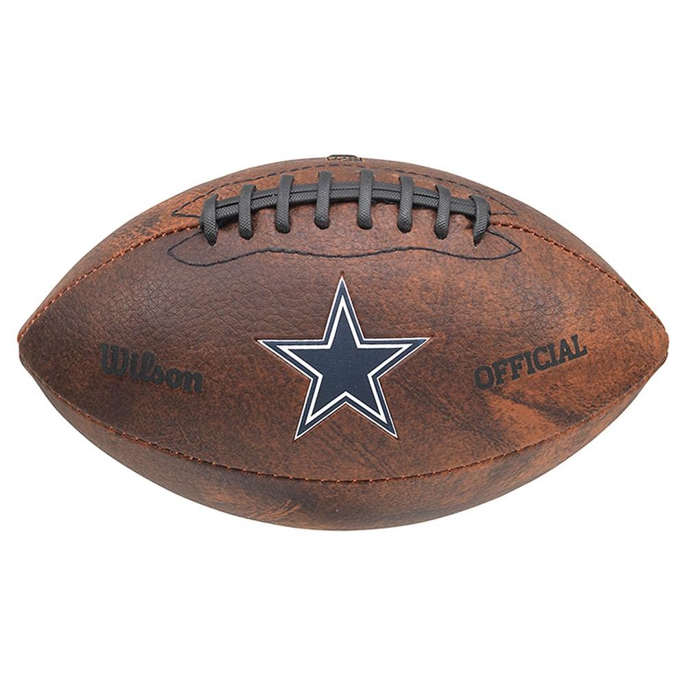 Dallas Cowboys Wilson 9 Inch Color Throwback Football