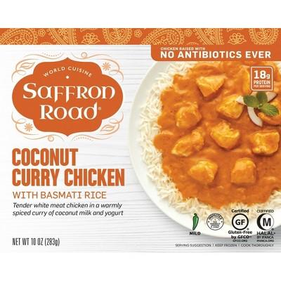 Saffron Road Gluten Free Frozen Coconut Curry Chicken - 10oz