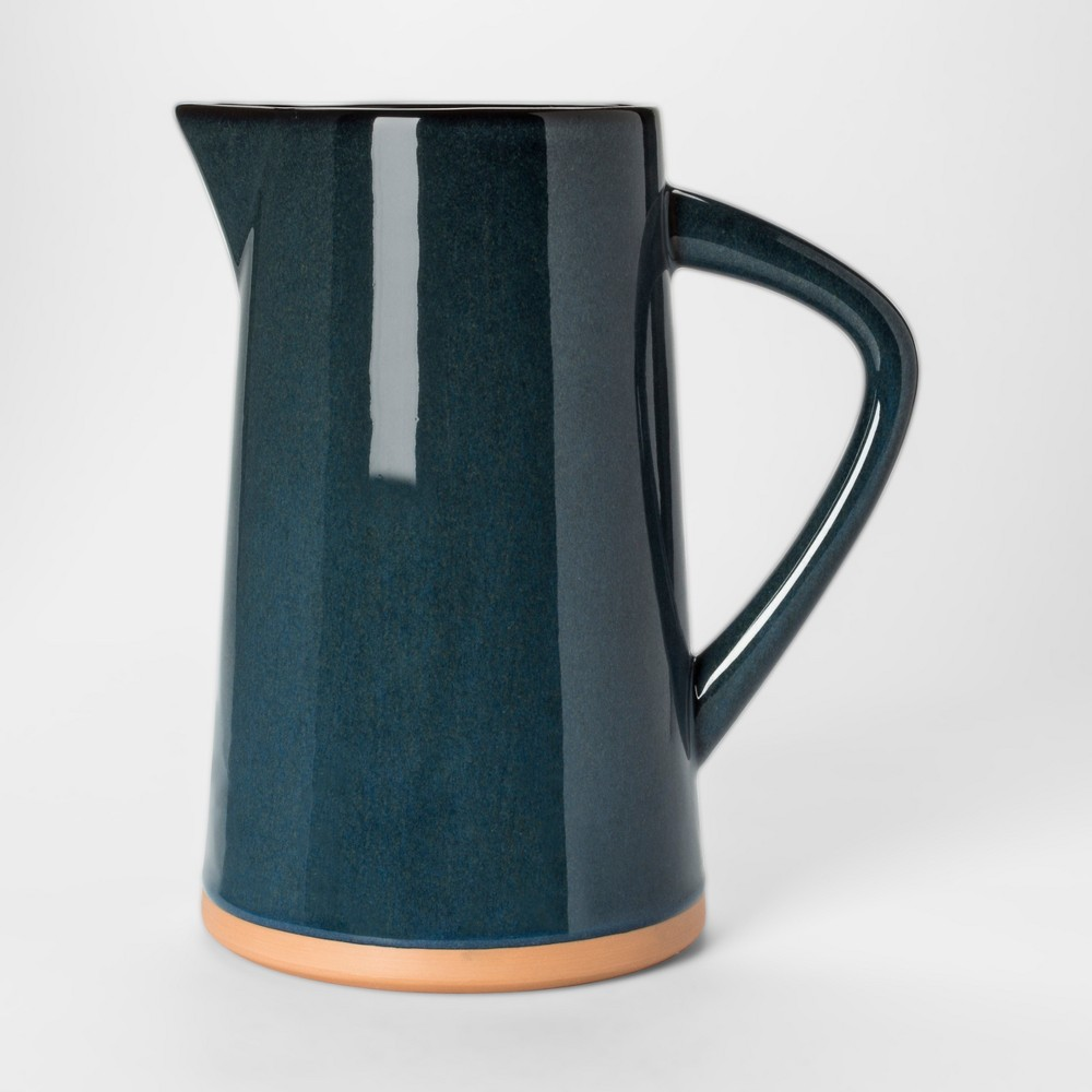 Vase Watering Can - Blue Glaze - Threshold