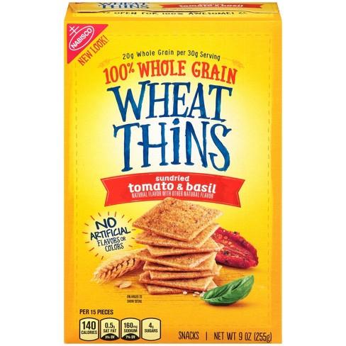 Wheat Thins Sundried Tomato And Basil Crackers - 9oz - image 1 of 3