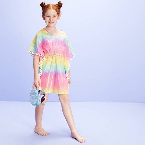 Girls' Ombre Sparkle Swim Cover Up dress - More Than Magic™ Pink - image 1 of 3