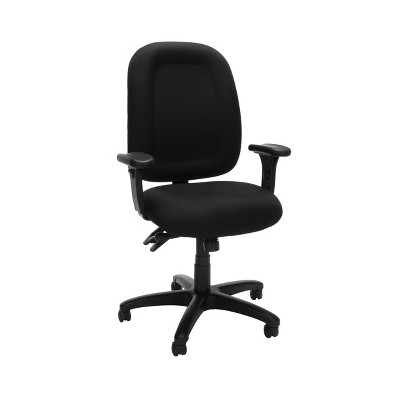 Ergonomic Mid Back Task Chair with Arms Black - OFM