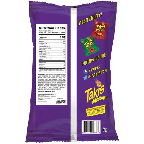 Barcel Takis Fuego Hot Chili Pepper Lime Corn Snacks 99oz Target