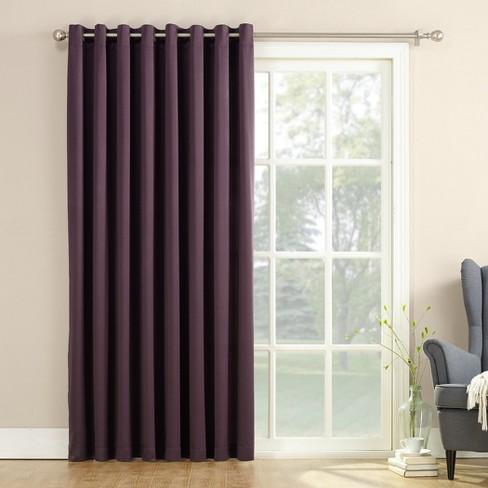 """100""""x84"""" Seymour Extra Wide Patio Door Room Darkening Curtain Panels - Sun Zero - image 1 of 2"""
