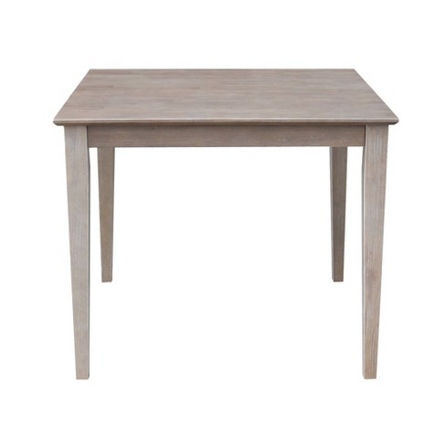 Solid Wood 36 X 36 Dining Table Weathered Gray International Concepts Target