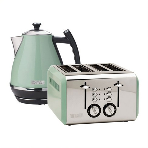 Haden Cotswold Wide Slot Stainless Steel Retro 4 Slice Toaster & Cotswold 1.7 Liter Stainless Steel Body Retro Electric Kettle - image 1 of 4
