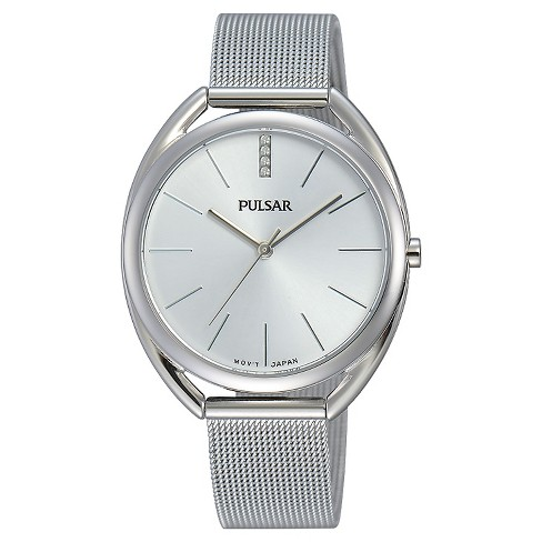 Women's Pulsar Jewelry Collection - Silver Tone with Silver Dial - PG2041 - image 1 of 1