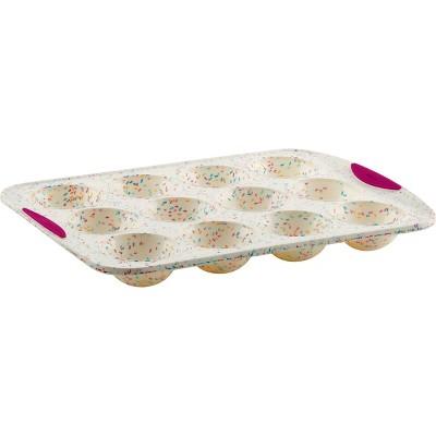 Trudeau 12ct Domes Cake Pan Confetti Fuchsia