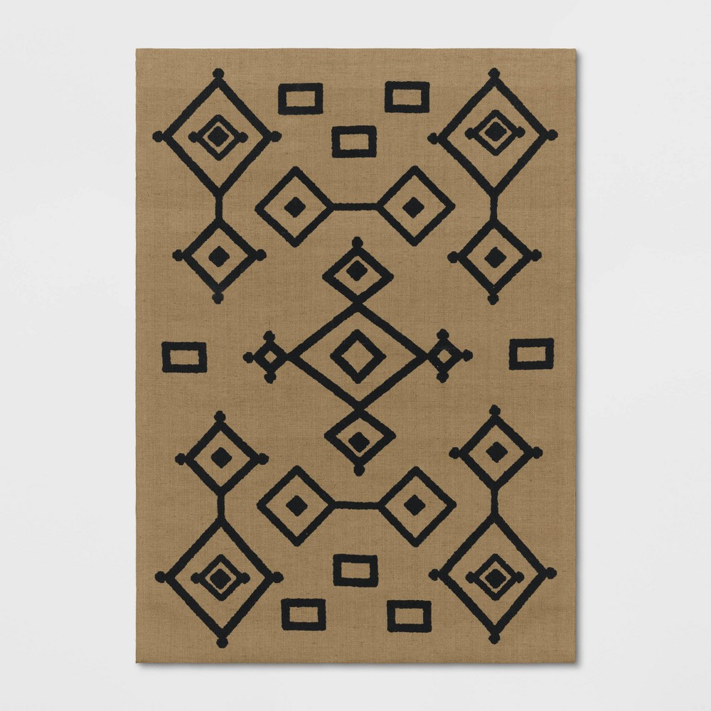 7'x10' Fescue Hand Woven Natural Moroccan Tribal Printed Jute Area Rug - Opalhouse was $179.99 now $89.99 (50.0% off)