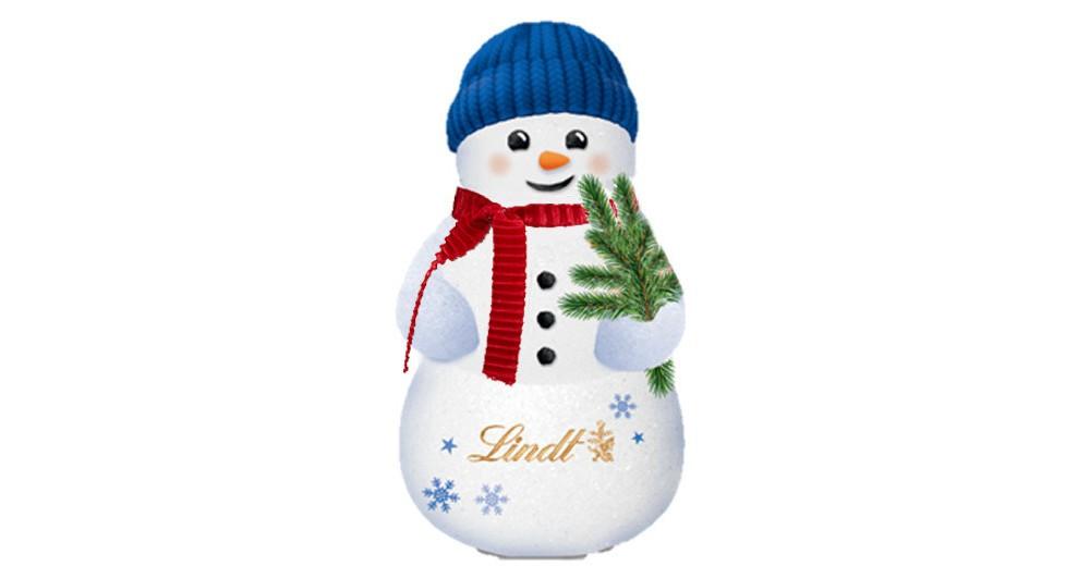 LINDT Christmas Snowman Milk Chocolate - 3.5oz