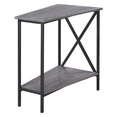 Johar Furniture Tucson Wedge End Table Weathered Gray