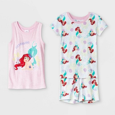 Girls' The Little Mermaid Ariel 3pc Pajama Set - Disney Store