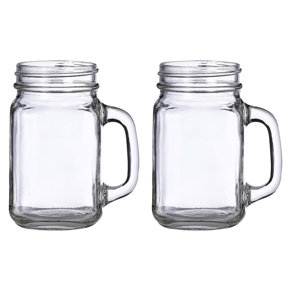 Image of 2ct Mason Jar Mugs, Clear