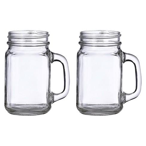 16oz 2ct Mason Jar Mugs - image 1 of 1