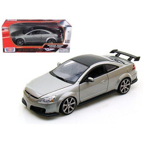 2003 Honda Accord Custom Tuner Grey 1/18 Diecast Model by Motormax - image 1 of 1