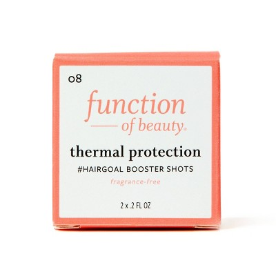 Function of Beauty Thermal Protection #HairGoal Booster Shots with Sesame Protein - 2pk/0.2 fl oz