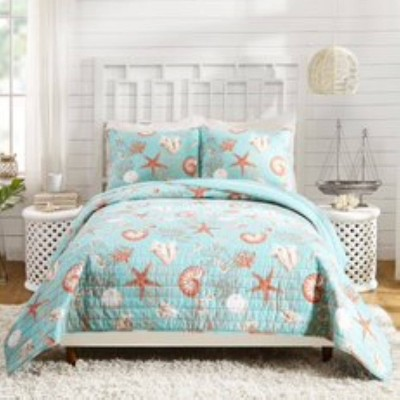 Modern Heirloom Starfish And Shells Quilt Sets