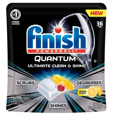 Finish Quantum Ultra Degreaser with Lemon Dishwasher Detergent Tablets - 36ct