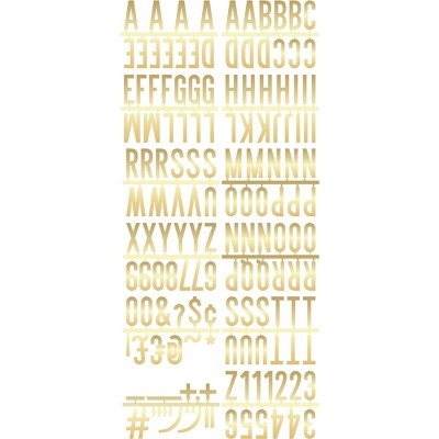 2  Letter Pack Decorative Wall Art Gold - Room Essentials™