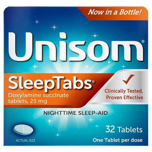 Unisom SleepTabs Nighttime Sleep Aid Tablets - Doxylamine Succinate - 32ct - image 1 of 2