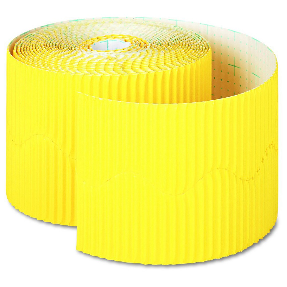 "Image of ""Pacon Bordette Decorative Border, 2 1/4"""" x 50' Roll, Canary, Yellow"""