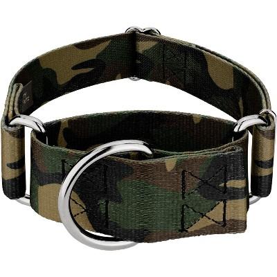 Country Brook Petz® 1 1/2 Inch Woodland Camo Martingale Dog Collar
