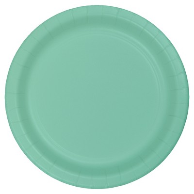 "Fresh Mint Green 9"" Paper Plates - 24ct"