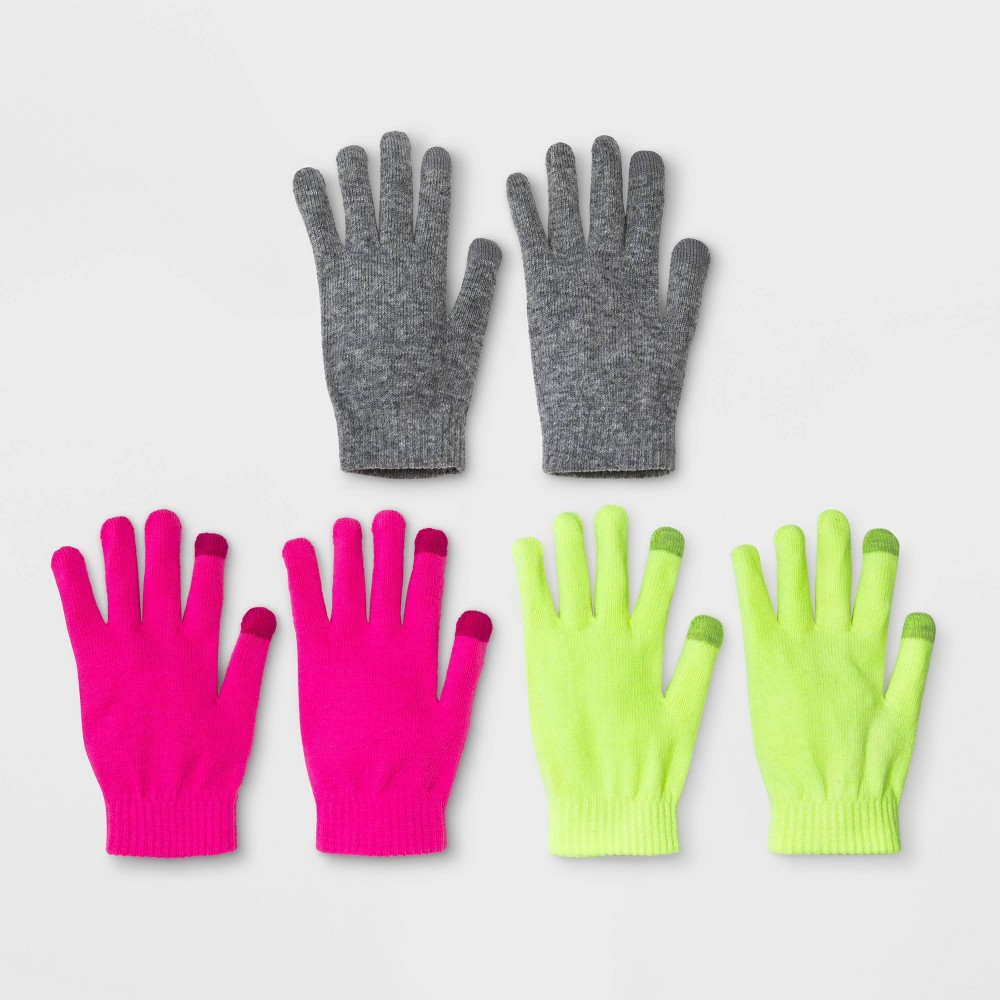 80s Costumes, Outfit Ideas- Girls and Guys Womens 3pk Magic Gloves - Wild Fable NeonPinkYellow One Size $9.00 AT vintagedancer.com