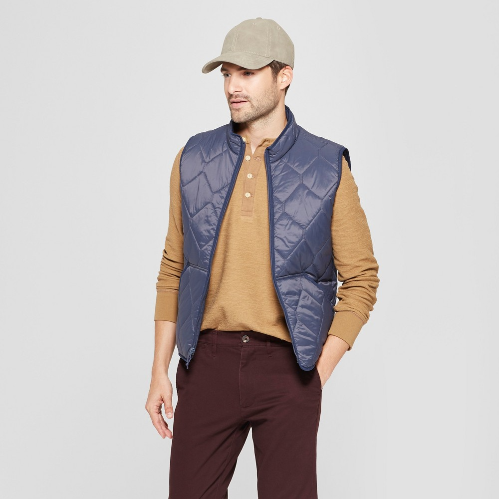 Men's Lightweight Quilted Vest - Goodfellow & Co Geneva Blue L