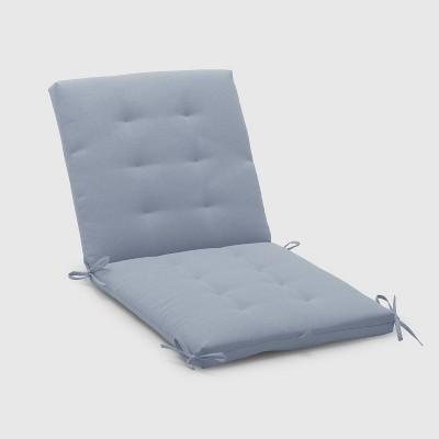 Outdoor Tufted Chair Cushion Chambray   Threshold™