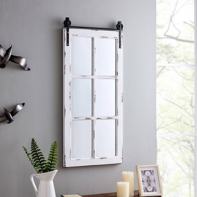 Saddle Brook Farmhouse Window Mirror - FirsTime
